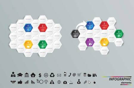 5 7: Vector circle infographic. Template for cycle diagram, graph, presentation and round chart. Business concept with 7, 8, 5, 9 and 3 options, parts, steps or processes. Data visualization. Illustration