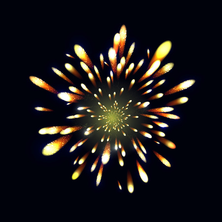 grouped: Firework, light effects isolated and grouped. . Shining elements and stars