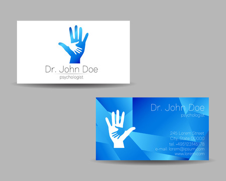 Psychology visit card. Modern icon. Creative style. Design concept.