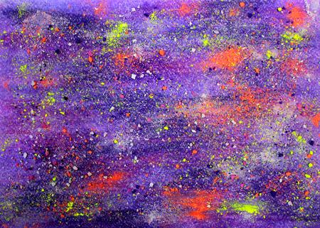 Kleurrijke pastel tekening. Met de hand gemaakt stijl. Violette textuur. Schetsen achtergrond. Kinderen kunst. Aquarel papier. Kid ontwerp. Rainbow verf ruimte patroon.