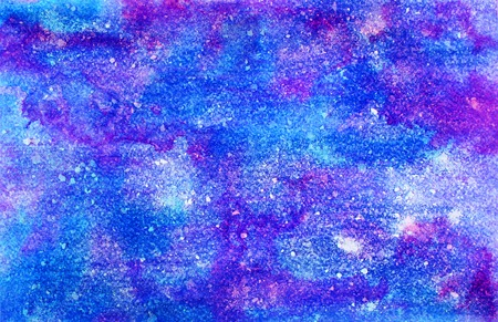 wash painting: Abstract violet pink ink painting on grunge paper texture. Hand painted watercolor background.  wash. Illustration stain and spot. Bright color. Unusual creativity art.