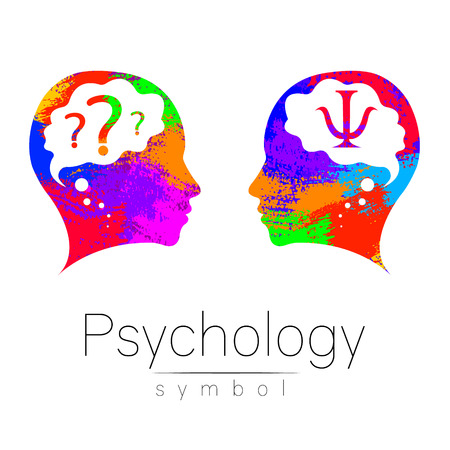 Modern head sign of Psychology.