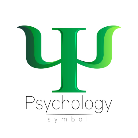 psychiatrist: Modern Sign of Psychology. Psi. Creative style. Icon in vector. Design concept.