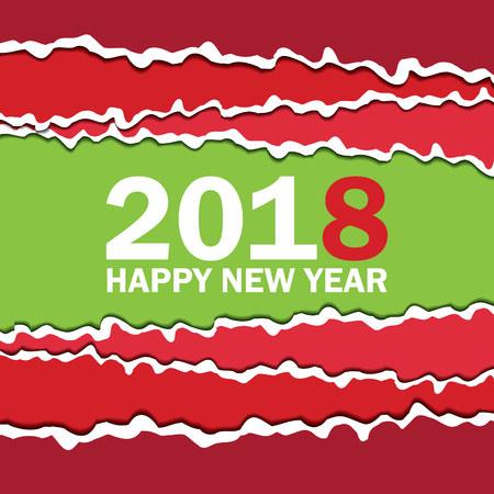 Happy New 2018 Year card Illustration