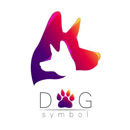 Dog logo vector illustration.