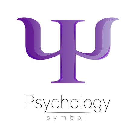Modern symbol of Psychology. Illustration