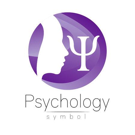 Modern head symbol of Psychology.