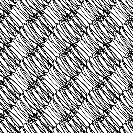 Vector seamless pattern with brush diagonal handwriting. Black color on white background. Hand painted grange cursive texture. Ink letter writing elements Repeat print for cloth, wallpaper, textile Illustration