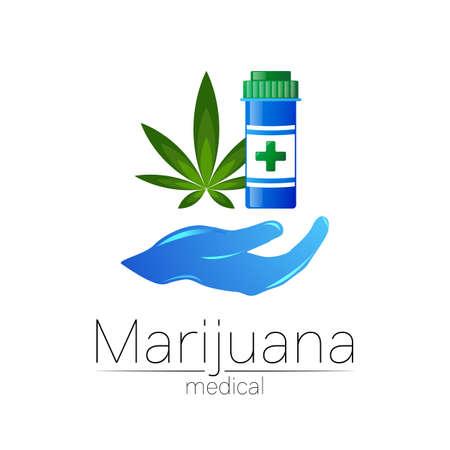 Medical cannabis symbol in vector. Stockfoto - 153132341