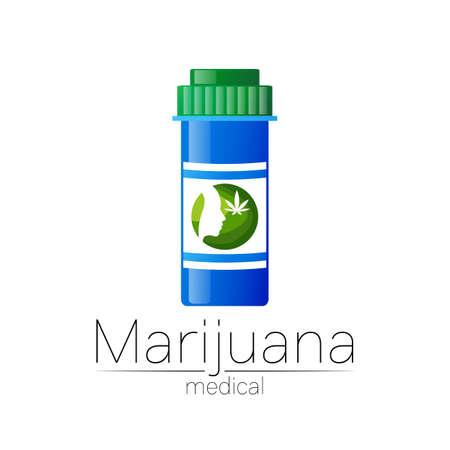Medical cannabis symbol in vector.