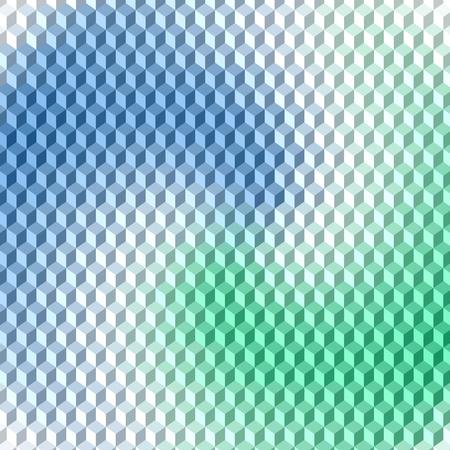 volumetric: Simetrichnyh pattern of volumetric colored cube Illustration