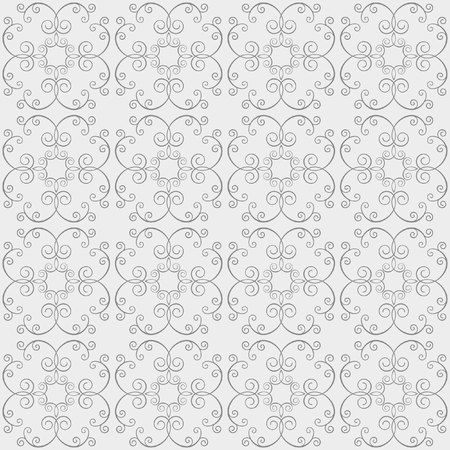 saved: Seamless vector pattern of floral ornaments. Stylish abstract background for design projects, textile and printing. The pattern saved in the swatch panel.