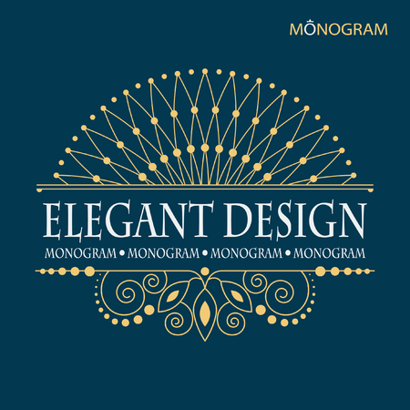 luxurious: The original pattern monogram in the form of a crown. Elegant emblem logo for restaurants, hotels, bars and boutiques. It can be used to design business cards, invitations, booklets and brochures.