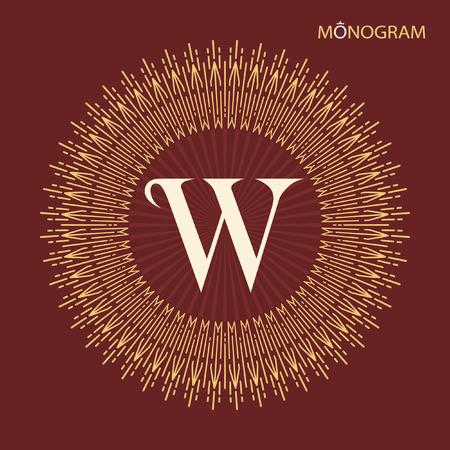 disk break: Vintage vector monogram. Elegant emblem logo for restaurants, hotels, bars and boutiques. It can be used to design business cards, invitations, booklets and brochures.