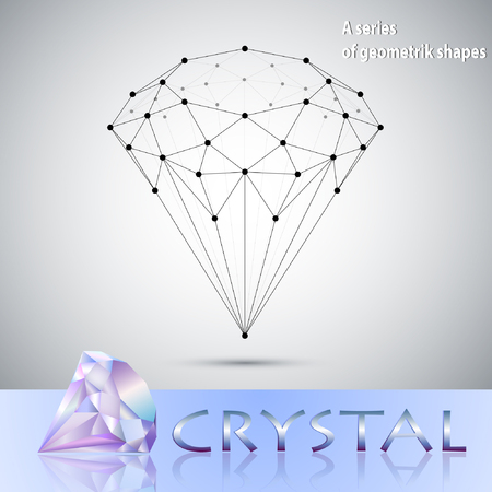 crystal background: Crystal structure, abstract geometric background