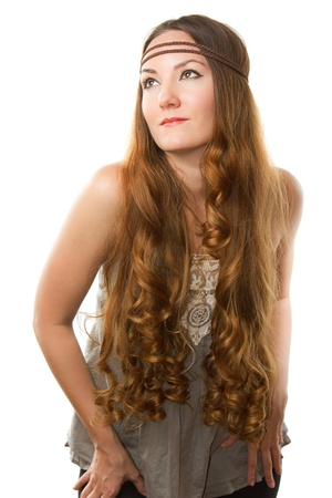 russian woman with very long hair  Stock Photo - 10313232