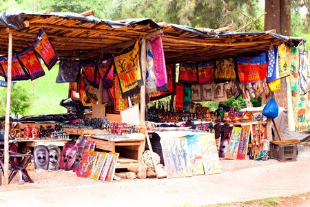souvenir traditional: gift shop in Africa