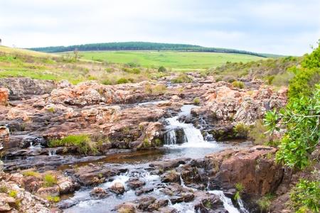 Een waterval in de Blyde gebied in Zuid-Afrika Stockfoto