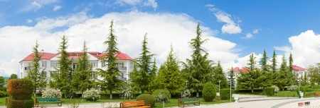 beautiful panorama of nature and the holiday home in Georgia Stock Photo - 13711801
