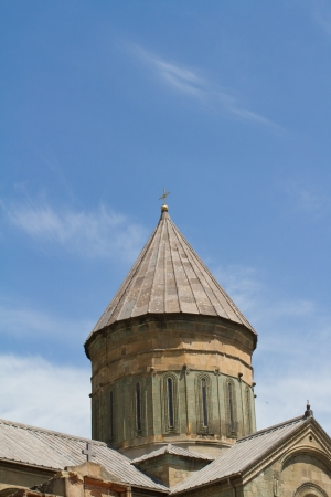 Roof of of old Orthodox cathedral in Mtskheta near Tbilisi -  the most famous symbol of christianity, Georgia  Stock Photo - 13755755