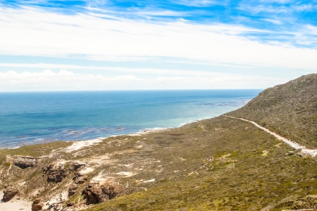Cape of Good Hope  Cape Peninsula Atlantic ocean  Cape Town  South Africa view from Cape Point photo