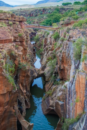 panoramas: Blyde River Canyon,South Africa, Mpumalanga, Summer  Landscape,  red rocks and water