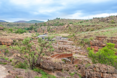 Blyde River Canyon,South Africa, Mpumalanga, Summer  Landscape,  red rocks and water photo