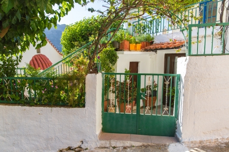 Building Exterior of home in small cretan village in Crete  island, Greece. See other pictures from Crete photo