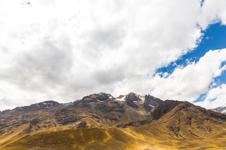sacred valley of the incas: Road Cusco- Puno, Peru,South America. Sacred Valley of the Incas. Spectacular  nature of mountains and blue sky