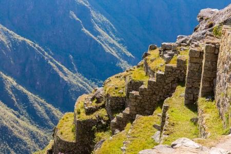 artifact: Mysterious city - Machu Picchu, Peru,South America. The Incan ruins. Example of  polygonal masonry and skill