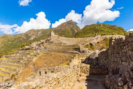 incan: Citt� misteriosa - Machu Picchu, Per�, Sud America. Le rovine Inca. Esempio di opera poligonale e abilit�