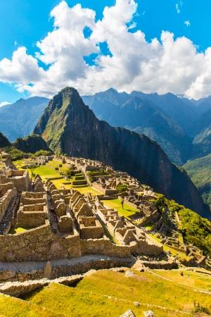 Mysterious city - Machu Picchu, Peru,South America The Incan ruins Example of polygonal masonry and skill