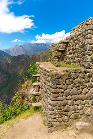 inca architecture: Inca Wall in Machu Picchu, Peru, South America. Example of polygonal masonry. The famous 32 angles stone in ancient Inca architecture.