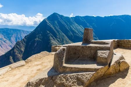 incan: Citt� misteriosa - Machu Picchu, Per�, Sud America Le rovine inca e terrazzo esempio di muratura poligonale e di abilit� Archivio Fotografico