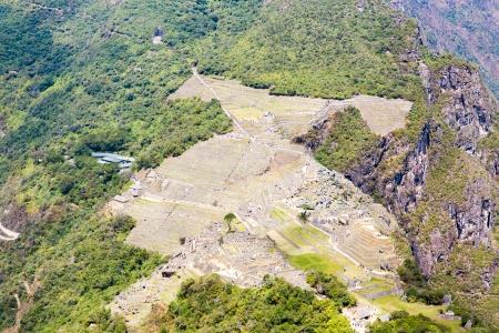 incan: Citt� misteriosa - Machu Picchu, Per�, Sud America. Le rovine Inca e terrazzo. Esempio di opera poligonale e abilit�