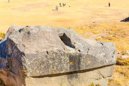 archaeological complex: Inca Ruins - Saqsaywaman, Peru, South America  Archaeological complex, Cuzco  Example of polygonal masonry, 12 sided Hatunrumiyoc stone