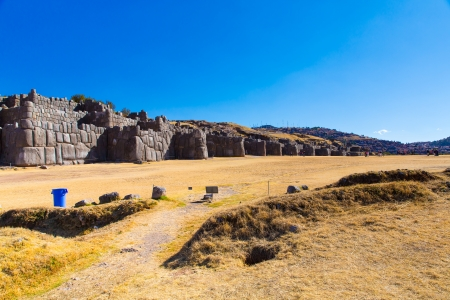 peru architecture: Inca Wall in SAQSAYWAMAN, Peru, South America. Example of polygonal masonry. The famous 32 angles stone in ancient Inca architecture.