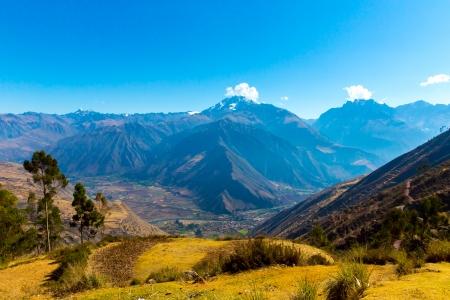 ペルー、アンデス山脈、南アメリカの神聖な谷のオリャンタイタンボ インカの遺跡します。インカ帝国の間に征服した皇帝のロイヤル不動産だった