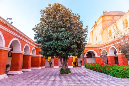 Monastery of Saint Catherine in Arequipa, Peru  Spanish  Santa Catalina  is monastery of nuns of  Domincan Second Order,  It was built in 1580 in South America