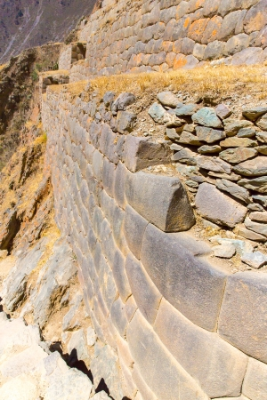conquered: Ollantaytambo, Peru, Inca ruins  and archaeological site in Urubamba, South America.  It was royal estate of Emperor who conquered during Inca Empire.