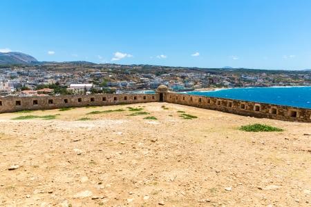 City Rethymno on beach of Island Crete, Greece photo