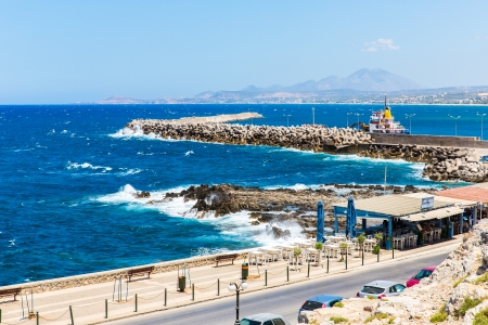 rethymno: City Rethymno on beach of Island Crete, Greece