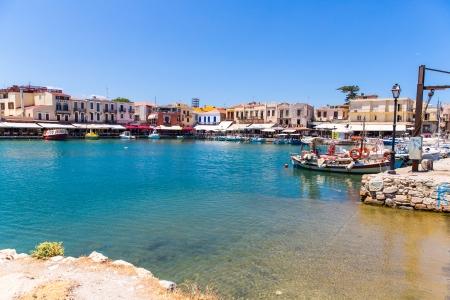 レティムノ、クレタ島、ギリシャの古いヴェネチアン ・ ポート