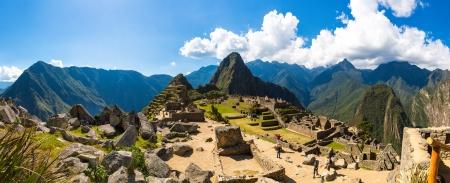 machu picchu: Mysterious city - Machu Picchu, Peru,South America  The Incan ruins and terrace  Example of  polygonal masonry and skill