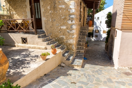 Small cretan village in Crete  island, Greece.  See other pictures from Crete photo