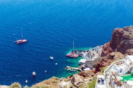 View of Fira town - Santorini island in Crete, Greece Stock Photo - 25165808