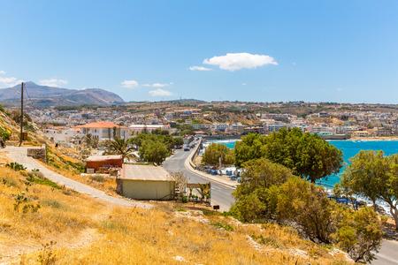rethymno: City Rethymno on beach of Island Crete, Greece