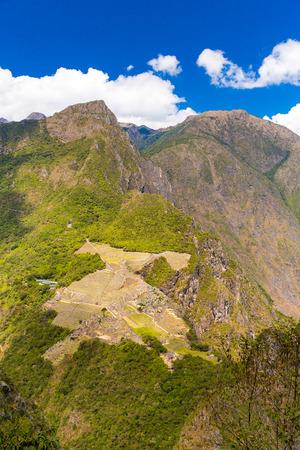 incan: Citt� misteriosa - Machu Picchu, Per�, Sud America. Le rovine Inca. Esempio di muratura poligonale e abilit� Archivio Fotografico