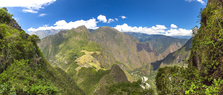 sacred valley: Mysterious city - Machu Picchu, Peru,South America. The Incan ruins. Example of polygonal masonry and skill