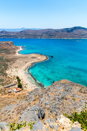 Gramvousa island near Crete, Greece. Balos beach. Magical turquoise waters, lagoons, beaches of pure white sand photo